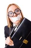 Femme d'affaires dans le concept de censure d'isolement Photographie stock