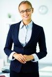 Femme d'affaires dans le procès Photo libre de droits