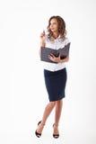 Femme d'affaires dans le studio Photographie stock