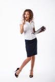 Femme d'affaires dans le studio Images stock