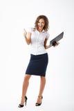Femme d'affaires dans le studio Image libre de droits