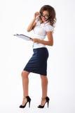 Femme d'affaires dans le studio Image stock