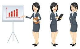 Femme d'affaires dans trois versions - illustration illustration stock