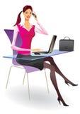 Femme d'affaires dans un bureau illustration libre de droits