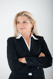 Femme d'affaires dans un procès Images stock