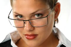 Femme d'affaires de beauté Images libres de droits
