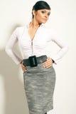 Femme d'affaires de Brunet d'Atractive Photos stock