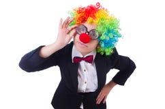 Femme d'affaires de clown de femme Photographie stock libre de droits