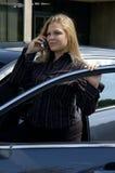 Femme d'affaires de déplacement Photographie stock libre de droits