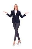 Femme d'affaires de femme dans le concept d'affaires d'isolement Photo stock