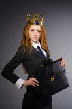 Femme d'affaires de reine Photo stock