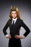 Femme d'affaires de reine Photographie stock