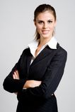 Femme d'affaires de sourire Image libre de droits
