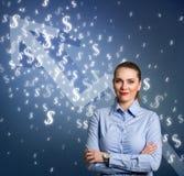 Femme d'affaires de succès Photographie stock