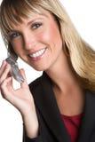 Femme d'affaires de téléphone portable photos stock