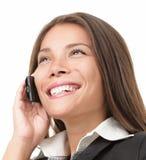 Femme d'affaires de téléphone portable Images libres de droits