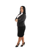 Femme d'affaires de verticale d'isolement Image stock