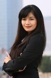 Femme d'affaires dedans du centre Images libres de droits