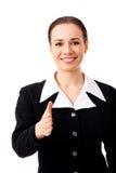 Femme d'affaires donnant la main pour la prise de contact images libres de droits