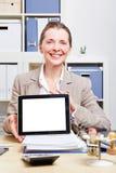 Femme d'affaires effectuant la présentation Photographie stock libre de droits
