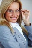 Femme d'affaires en glaces photos libres de droits