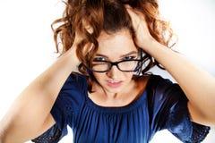 Femme d'affaires en verres Photographie stock