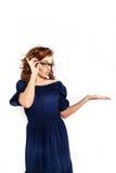 Femme d'affaires en verres Images stock