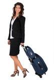 Femme d'affaires en voyage d'affaires photographie stock libre de droits