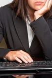 Femme d'affaires ennuyée Image stock