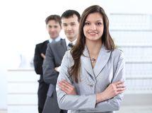 Femme d'affaires et équipe d'affaires Photographie stock