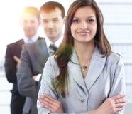 Femme d'affaires et équipe d'affaires Images stock