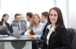 Femme d'affaires et équipe d'affaires Photo libre de droits