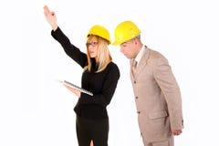 Femme d'affaires et architecte fâchés Photo libre de droits