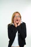 Femme d'affaires et crainte Photos stock