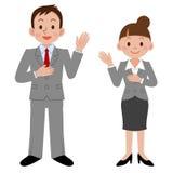 Femme d'affaires et homme d'affaires illustration libre de droits