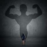 Femme d'affaires et ombre forte 1 Image libre de droits