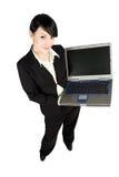 Femme d'affaires et ordinateur portatif photo libre de droits