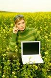 Femme d'affaires extérieure Image libre de droits