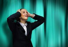 Femme d'affaires faisant face à des problèmes Photo libre de droits
