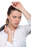 Femme d'affaires fatiguée image libre de droits