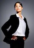Femme d'affaires fière image stock
