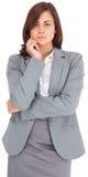 Femme d'affaires focalisée Image libre de droits