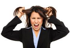 Femme d'affaires frustrante Photo stock