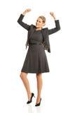Femme d'affaires gaie Image stock