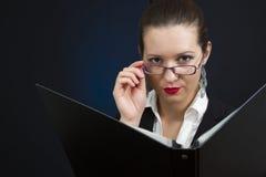 Femme d'affaires grave Image libre de droits