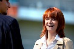 Femme d'affaires heureuse photo libre de droits