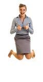 Femme d'affaires heureuse Photographie stock libre de droits