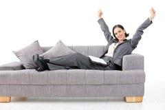 femme d'affaires heureuse Image libre de droits