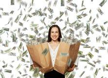 Femme d'affaires heureuse et souriante Photographie stock