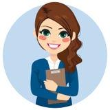 Femme d'affaires Holding Folder Illustration Libre de Droits